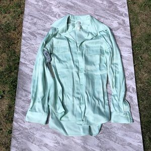 The Group by Babaton Mint Green Utility Shirt NWT